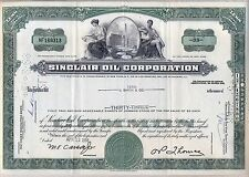 Sinclair Oil Corporation Stock certificate Green 1960's