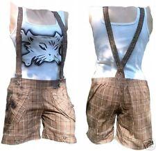 Rockabilly punk rock Baby Phat ska bermudas hot pants short pantalón + tirantes XS/s
