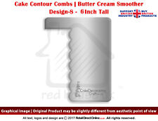 Cake Combs | Butter Cream Spreader Genius Edge Smoothing Contour Comb | 6"