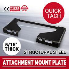 "5/16"" Quick Tach Attachment Mount Plate bobcat Skid steer Loader"