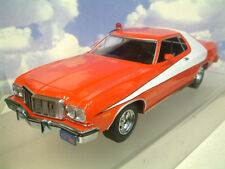 "1/18 GREENLIGHT 1976 FORD GRAN TORINO STARSKY & HUTCH ""STRIPED TOMATO"" #19017"