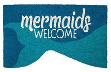 """DOOR MATS - MAGICAL MERMAID COIR WELCOME MAT - 17"""" X 28"""" - NAUTICAL DOOR MAT"""