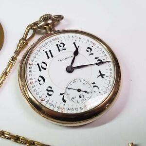 Illinois Bunn Special RR Model 14 2/3 23J 60hr GF Montgomery Dial Pocketwatch