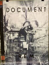 "R.E.M. ""Document"" U.S. Promo Poster From 1987-Alternative Rock, New Wave Legends"