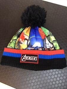 Marvel Avengers Beanie Bobble Hat - Boy's Age 8-12 Years