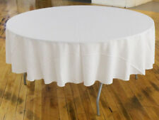90'' Round Polyester Tablecloth - Ivory