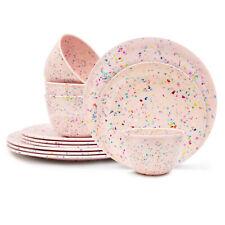 Zak Designed Confetti Dinnerware Set, Primrose, 12-piece set