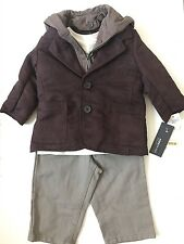 Kenneth Cole Reaction Boys 3 Piece Outfit Set Blazer Shirt Jeans- 12 Months- NWT