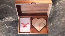 casse tête bois double tangram le coeur