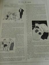 Un Peu de Sport La Boxe au Pelican Club Soigneur Print Art 1905