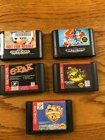 Lot of 5 Sega Genesis Games Untested
