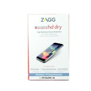 ZAGG INVISIBLE SHIELD SCREEN PROTECTOR FOR HTC ONE M10 HD DRY SELF HEAL HO1HDS