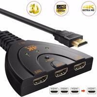 4K*2K Mini 3 in 1 Port Switch Switcher HDMI Splitter 1080P Video TV Hub AdapWP4