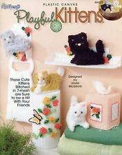 Playful Kittens, 4 Cats & Decor Projects plastic canvas pattern booklet NEW