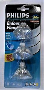 3 pack Light Bulbs PHILLIPS Flood Track 50W INDOOR MR16 Halogen