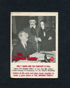 1964 The Addams Family TV Show Donruss Trading Card Number 12 Gomez & Morticia