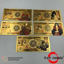 Lot 5 Billet Or Naruto Shippuden Gold / Carte Card Figurine Banknote
