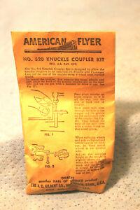 AMERICAN FLYER S GAUGE No.520 KNUCKLE COUPLER CONVERSION KIT IN BAG