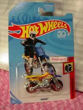 HW450F motorcross cycle✰Yellow/Red✰US 50✰3/5 HW DAREDEVILS✰2018 Hot Wheels E/F