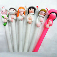 1/6Pcs Lovely Nurse Doctor Style Polymer Clay Ball Pen Ball Point Pen Nurse Day