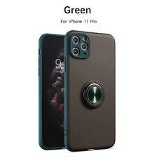 For iPhone 11 Pro Max Slim Hybrid Lens Cover Ring Holder 360 Car Magnetic Case