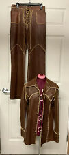 Vintage 1970s North Beach Leather Women's Jacket And Pants Size L