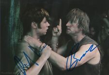 David Kross & Detlev Buck Autogramme signed 13x18 cm Bild