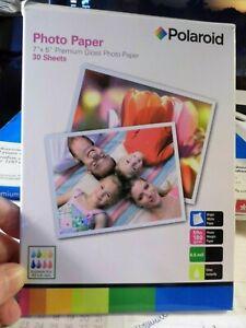 Polaroid Photo Paper 7x5 Premium Gloss 22 Sheets & 1 6.5x4