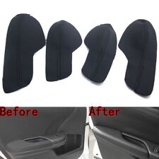 Door Armrest Leather Surface Shell COVER Trim Black for Honda Civic 10th 16-17