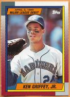 1989 Topps Baseball Rookie Ken Griffey Jr. #36 Debut 4/3/1989 Seattle Mariners