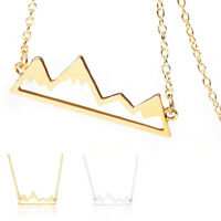 Women Charm Hollow Snowy Mountain Necklace Choker Chain Pendant Fashion Jewelry