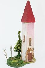 """HO Scale Noch 76113 Stucco Tower w/ Tree & Wired Light - Approx. 3 x 4 x 7"""" #210"""