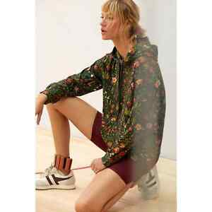 New Anthropologie Farm Rio Floral Hoodie $138 SMALL