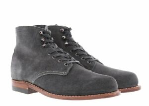 Wolverine 1000 Mile Boots Grey Suede Original Made in USA Authentic NEW