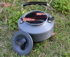 Outdoor Camping Fire Stove Tea Coffee Kettle Picnic Kitchen Hiking Tea Pot 1.1L