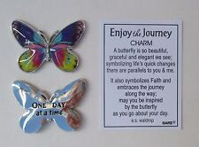 U One day at a time Butterfly ENJOY THE JOURNEY Pocket token charm GAnz recovery