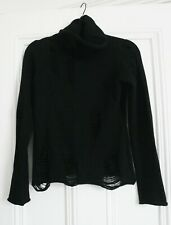 Punk Rave Black Knit Distressed Ripped Decadence Sweater | Size S | Goth...