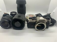 Olympus OM-4T Camera & accesories~Zuiko Reflex 500mm Lens~Zuiko auto zoom Lens