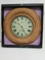 Vintage VERICHRON Horologer Braided Wicker London England Wall Clock