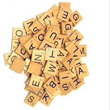 100 Wooden Scrabble Tiles Black Scrabble Letters Numbers for Art Craft Wood