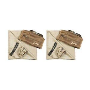 Gear Aid McNett Tactical Ultra Compact Microfiber Towel/Bag Sand Medium (2-Pack)
