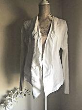 CREA CONCEPT SZ 12 Cardigan Lin Coton Blanc Ouvert Cascade Lagenlook