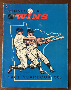 1961 Minnesota Twins 1st Year Yearbook 48 Pages MLB Baseball Yearbook