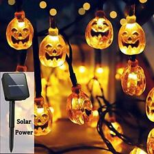 Halloween Decor Pumpkin String Lights, Solar String Light,20ft 30 LED Outdoor