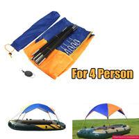 Boot Sonnenverdeck Bimini Top Sonnendach Wasserdicht Orange Blau 4 personen