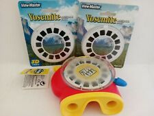Fisher Price 3D View Master Viewer w/ 1 Reel and 2 New Packs or Yosemite Reels