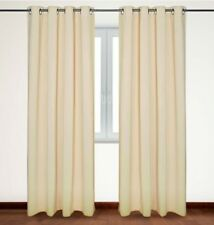 Over the Floor Blackout Curtains, Thermal Insulated Grommet Top 54x63-inch Beige