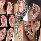 Fashion Women Crystal Clip-On Clip Ear Cuff Wrap Cartilage Earring Jewelry Gift