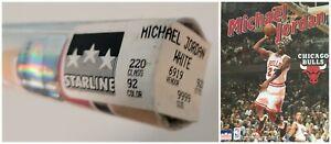 "VINTAGE SEALED MICHAEL JORDAN POSTER ~ 1995 White Home Jersey 22x34"" Starline~"