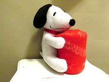 Snoopy Valentines Peanuts Plush Dog Toy with Fleece Blanket